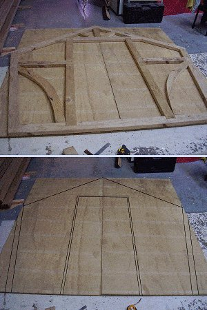 8x7 Tudor-Style Garden Shed Plan : Marking the Plywood Wall Panels