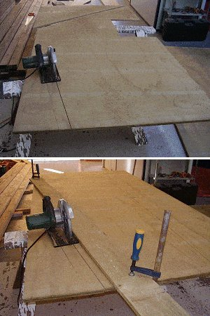 8x7 Tudor-Style Garden Shed Plan : cutting the Plywood Wall Panels