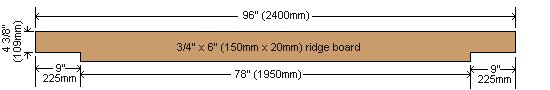 8x7 Tudor-Style Garden Shed Plan : Ridge Board
