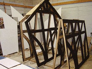 8x7 Tudor-Style Garden Shed Plan : Paint