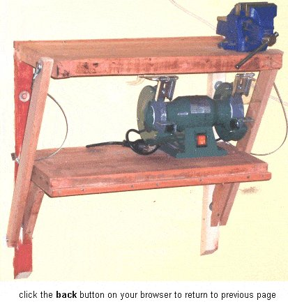 Wall Mounted Folding Work Bench : Folded In