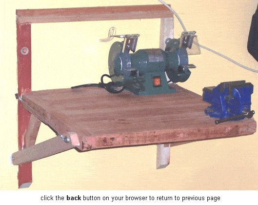 Wall Mounted Folding Work Bench : Folded Out