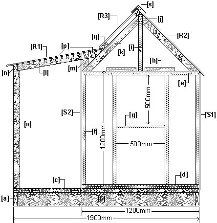 Wendy House Plan Side Elevation : Metric Version