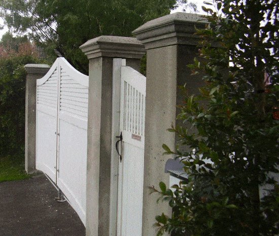 Concrete Gate Post : wooden gates and posts