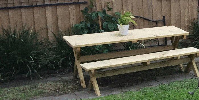 Cross-Leg Garden Table Picture